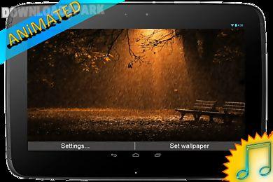 rain animated live wallpaper
