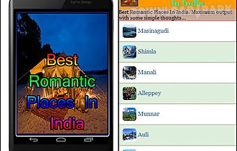 Best romantic places in india