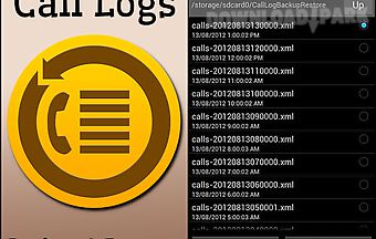 Call logs backup and restore