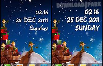 Winter night fun live wallpaper
