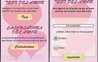 Test del amor y calculadora