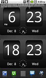flipclock blackout widget 4x2