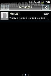 go sms theme white black