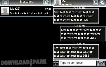 Go sms theme white black
