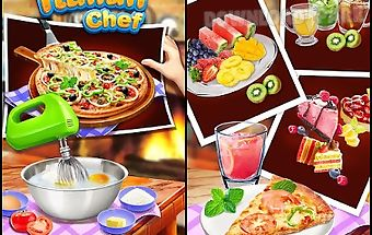 Gourmet pizza: kids food game