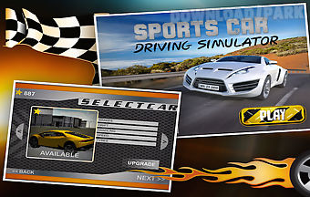 Sports car driving simulator