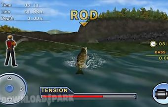 Bass fishing 3d on the boat tota..
