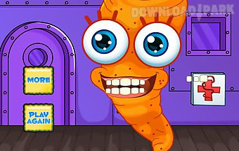 Cartoon carrot dentist