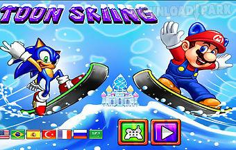 Toon skiing