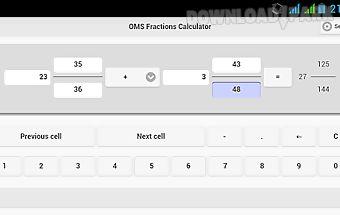 Oms fractions calculator