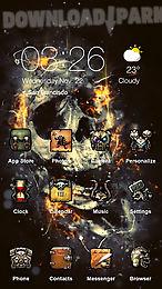 the flaming skull best theme