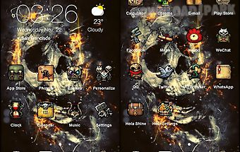 The flaming skull best theme