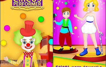 Happy circus performer