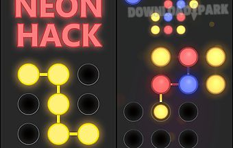 Neon hack: pattern lock game