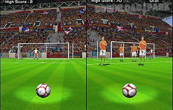 Penalty flick : football goal