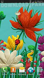 plasticine spring flowers