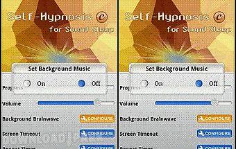 Self-hypnosis for sound sleep