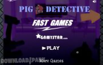 The funny detective pig