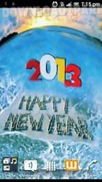 touch ripples new year hd live wallpaper