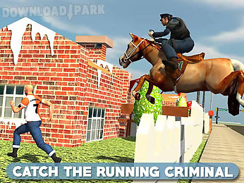 police horse chase -crime town