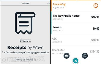 Receipts by wave for business