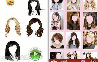Girls hair style face changer