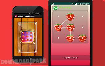 Strawberry theme applock