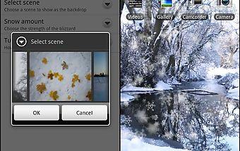 Snowy scenes - live wallpaper
