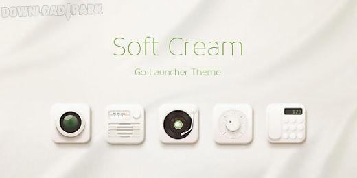 soft cream go launcher theme