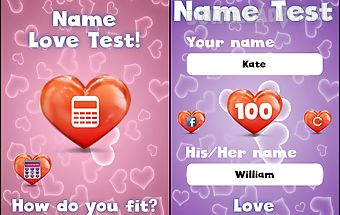 Name love test for fun