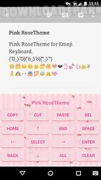 pink rose emoji keyboard theme
