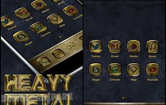 Heavy metal go launcher theme