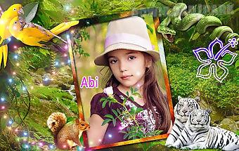 Jungle photo frames effects