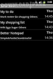 Better Notepad Android Anwendung Kostenlose Herunterladen In Apk