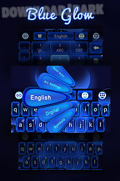 glow blue go keyboard theme