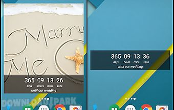 Wedding countdown widget