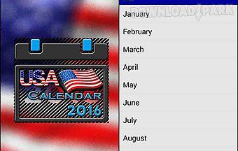 Usa calendar 2016