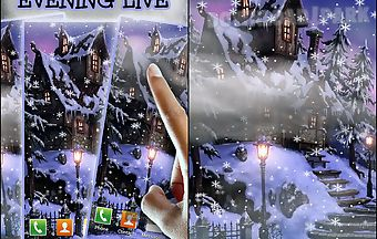 Snowy evening live wallpaper
