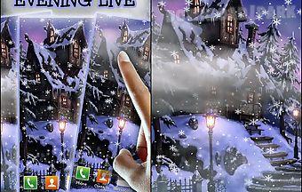 Snowy evening live wallpaper