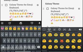 Emoji keyboard skin for galaxy