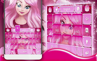 Cute girl keyboard