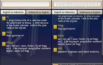 Kamus dictionary indonesia