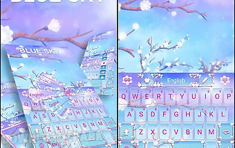 Blue sky go keyboard