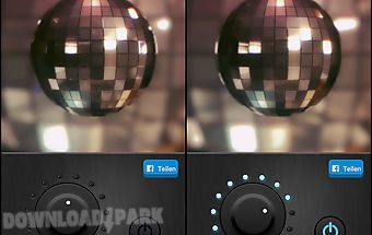 Disco light led flashlight