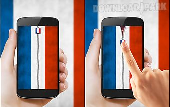 France flag zipper lock