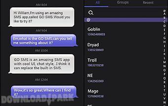 Go sms pro iphoneblack themeex