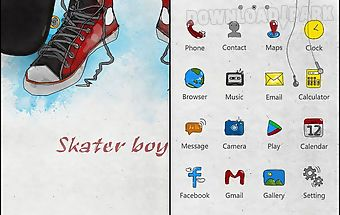 Skater boy go launcher theme