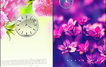 Transparent clock widget