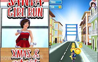 Santa girl run: xmas and adventu..