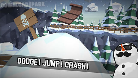 sledge: snow mountain slide